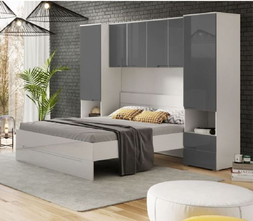 Santino Grey Gloss Overbed Unit - 2935